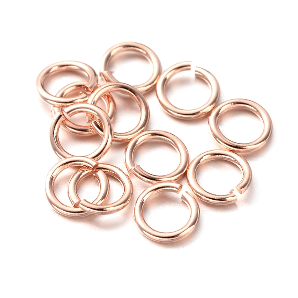 Mosazný spojovací kroužek - růžově zlatý - Ø 5 mm - 1 ks