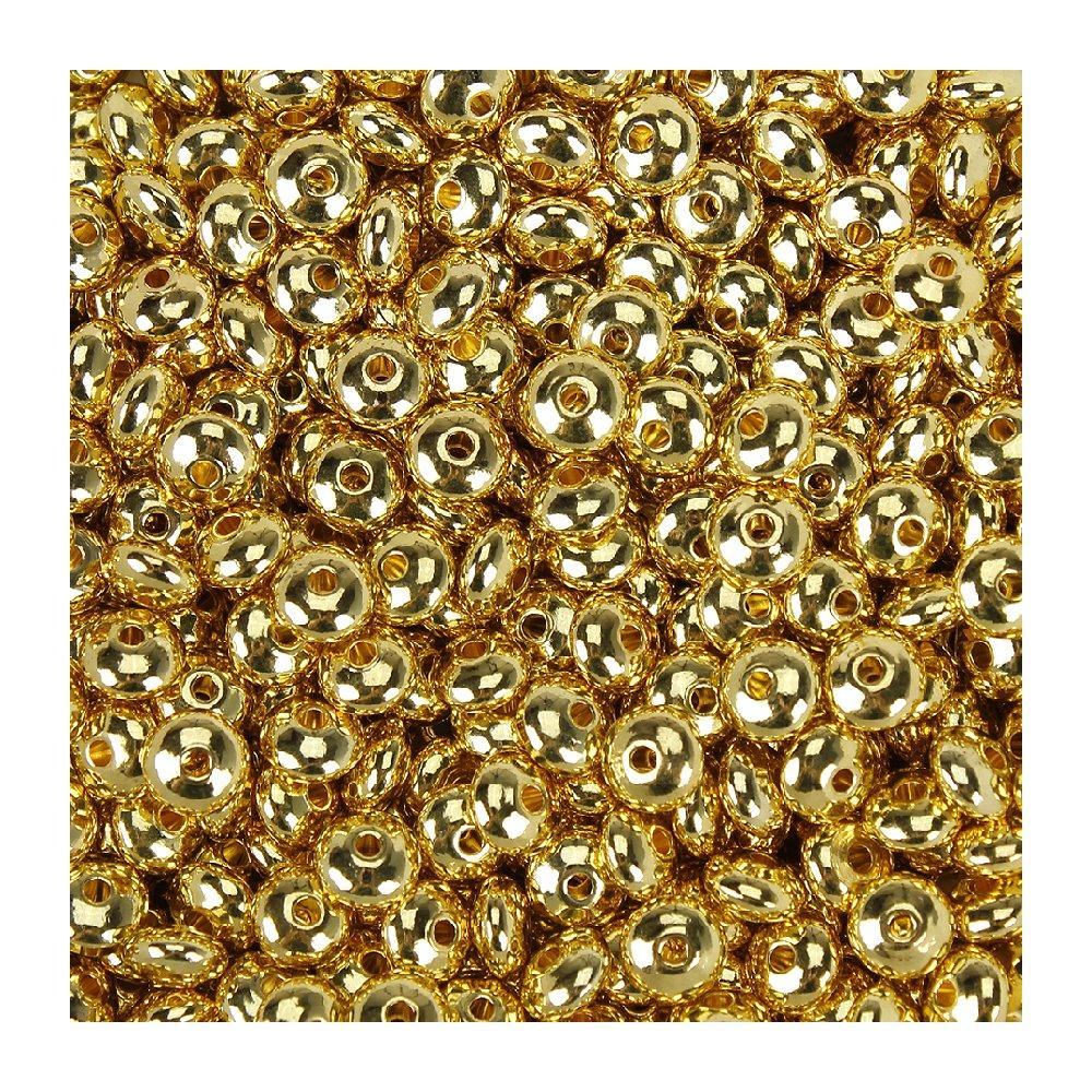 Mosazný korálek - rondelka - zlatá - ∅ 8.5 x 4.5 mm - 1 ks