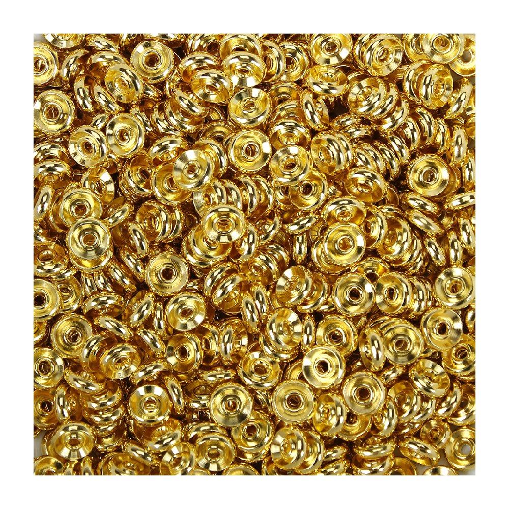 Mosazný mezidíl - zlatý -  8 x 3 mm - 1 ks