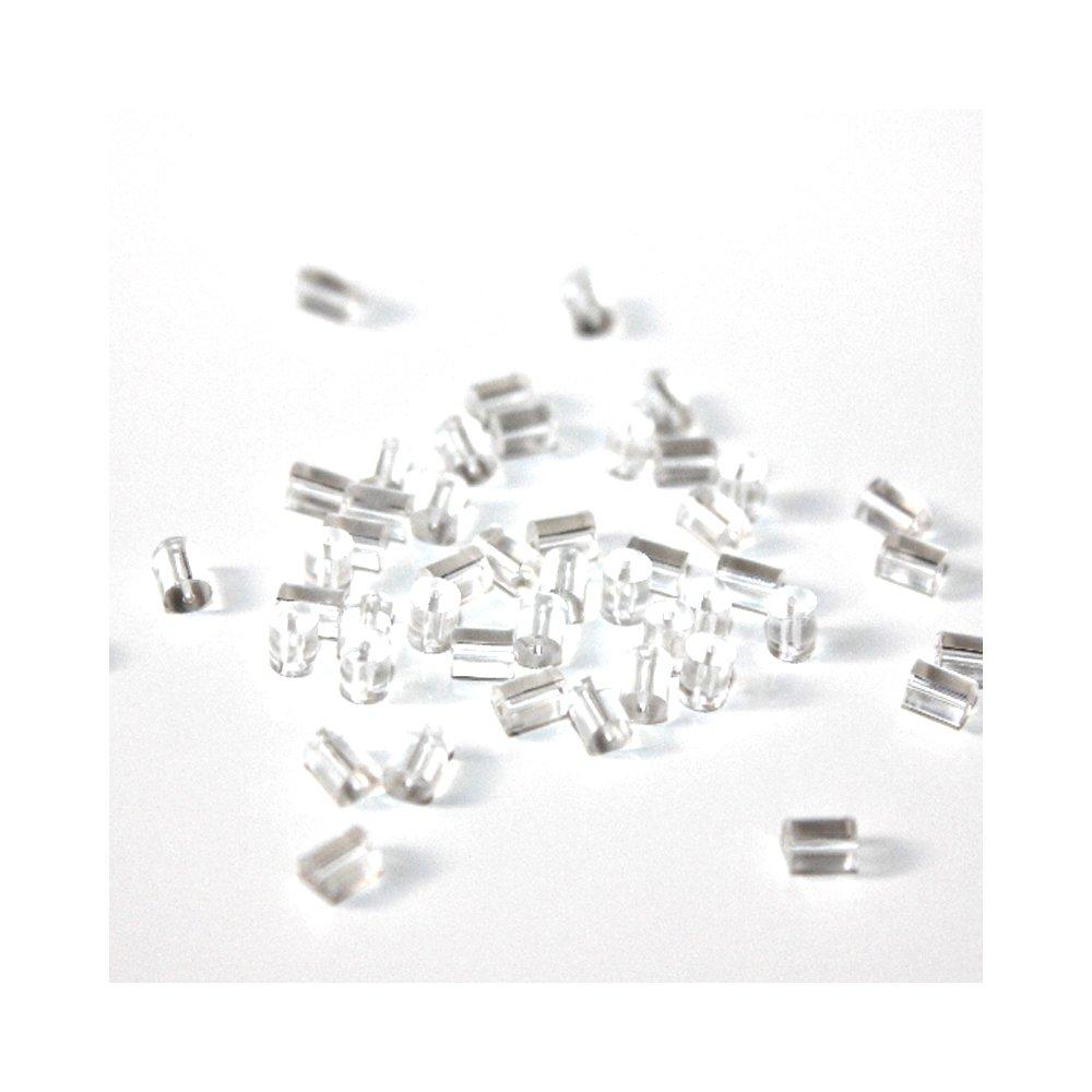 Náušnicová zarážka - gumové - 3 x 3 mm - 10 ks
