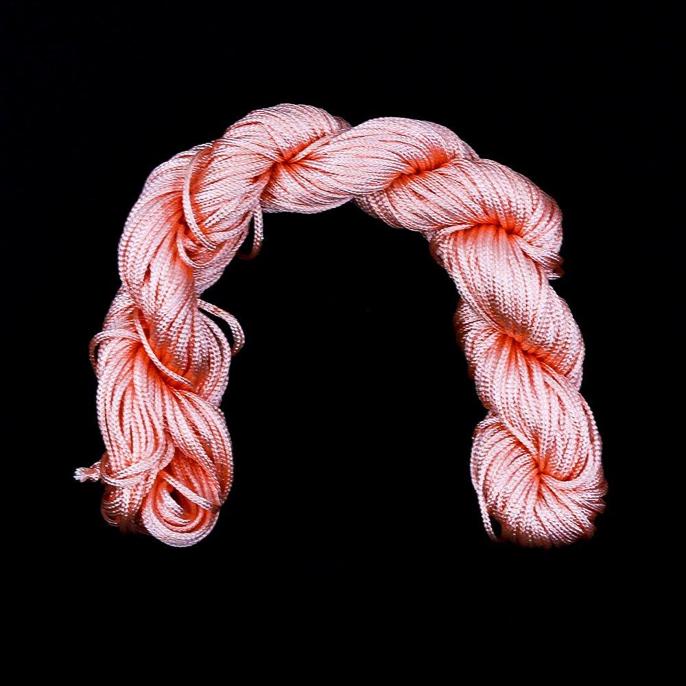 Nylonová šňůra - lososová - ∅ 1 mm - 25 m - 1 ks