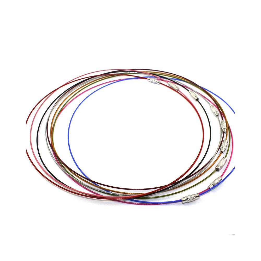 Ocelová obruč s mosazným zapínáním - platinová - ∅ 44 cm - 1 ks