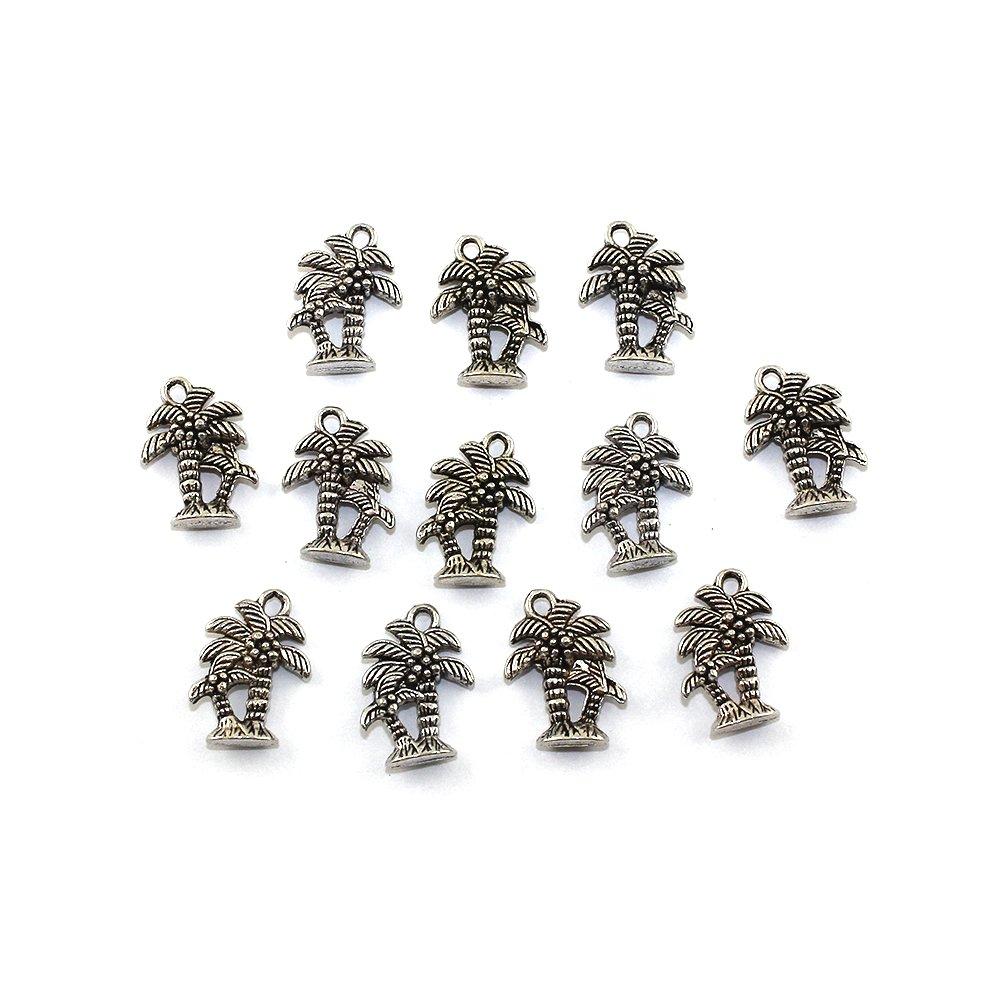 Palmička - stříbrná - 18 x 13 x 5 mm - 1 ks