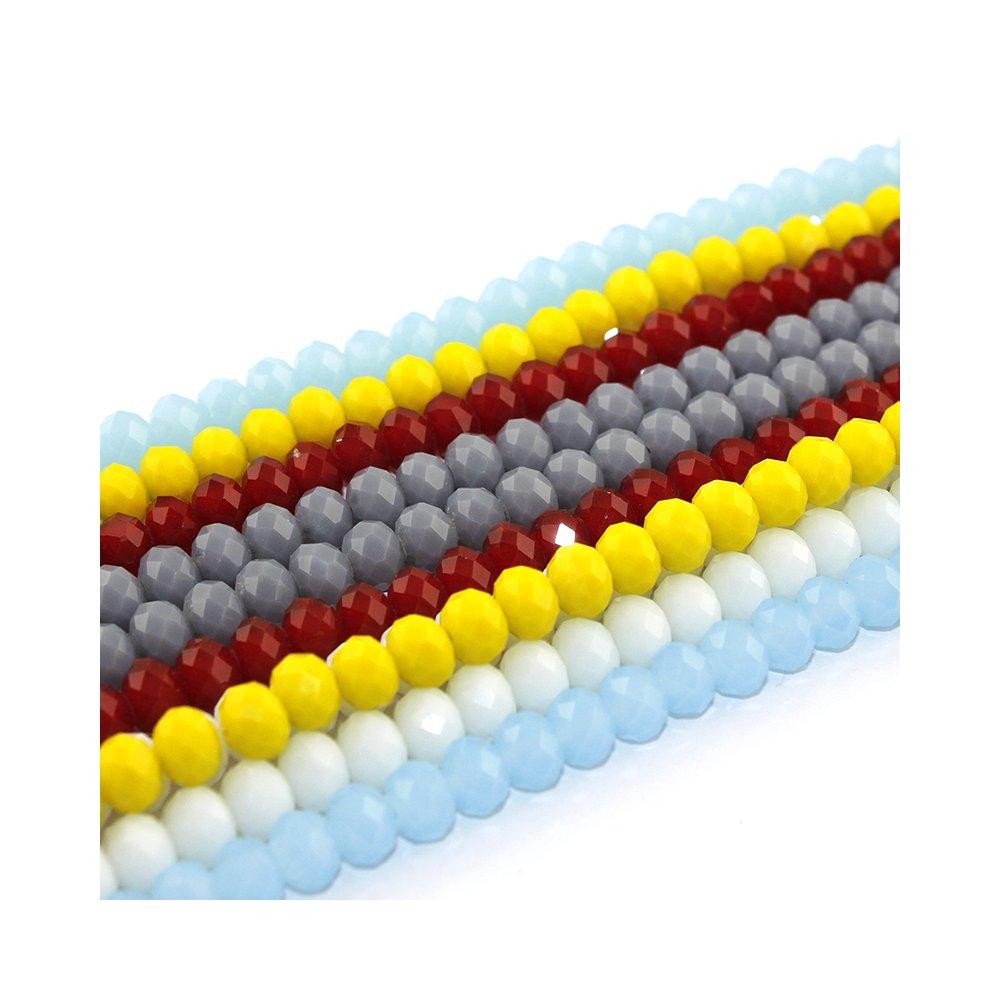 Broušené korálky - Mix - 8 x 6 mm - 10 ks