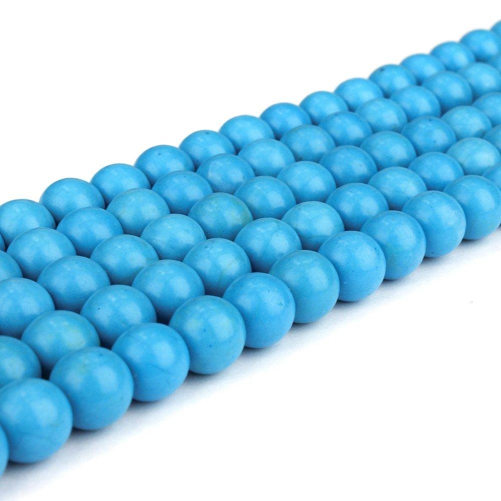 Syntetický tyrkys - modrý - ∅ 8 mm - 1 ks