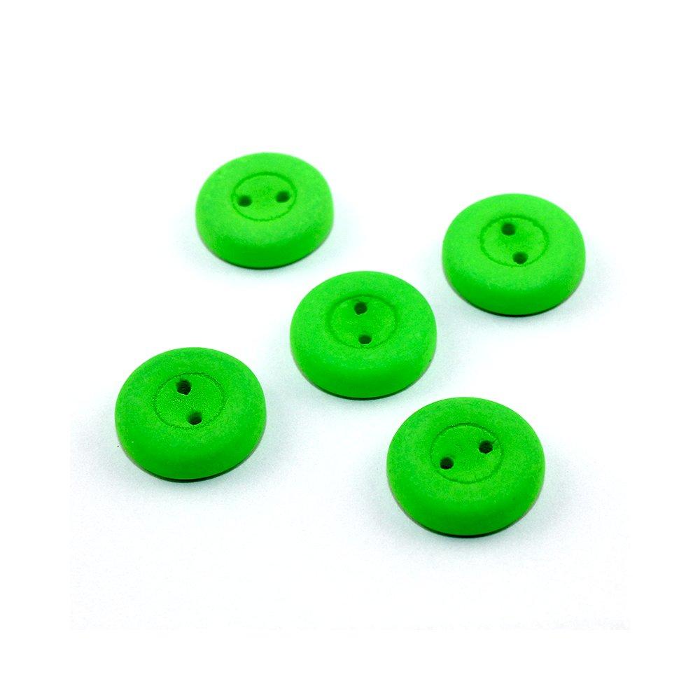 Knoflík Estrela NEON - elektricky zelený - ∅ 16 mm - 1 ks