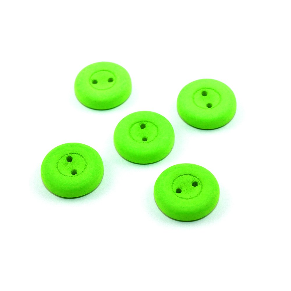 Knoflík Estrela NEON - fluorescenčně zelený - ∅ 16 mm - 1 ks