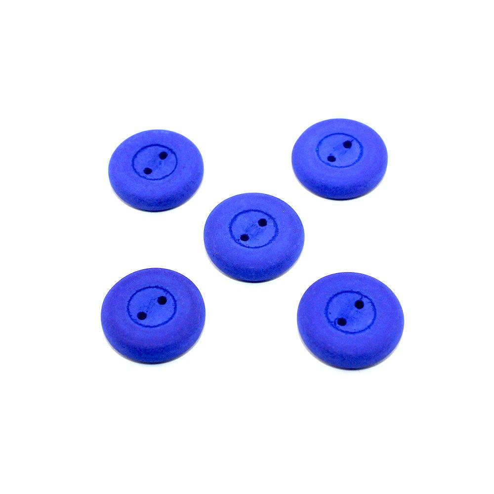 Knoflík Estrela NEON - nebesky modrý - ∅ 16 mm - 1 ks