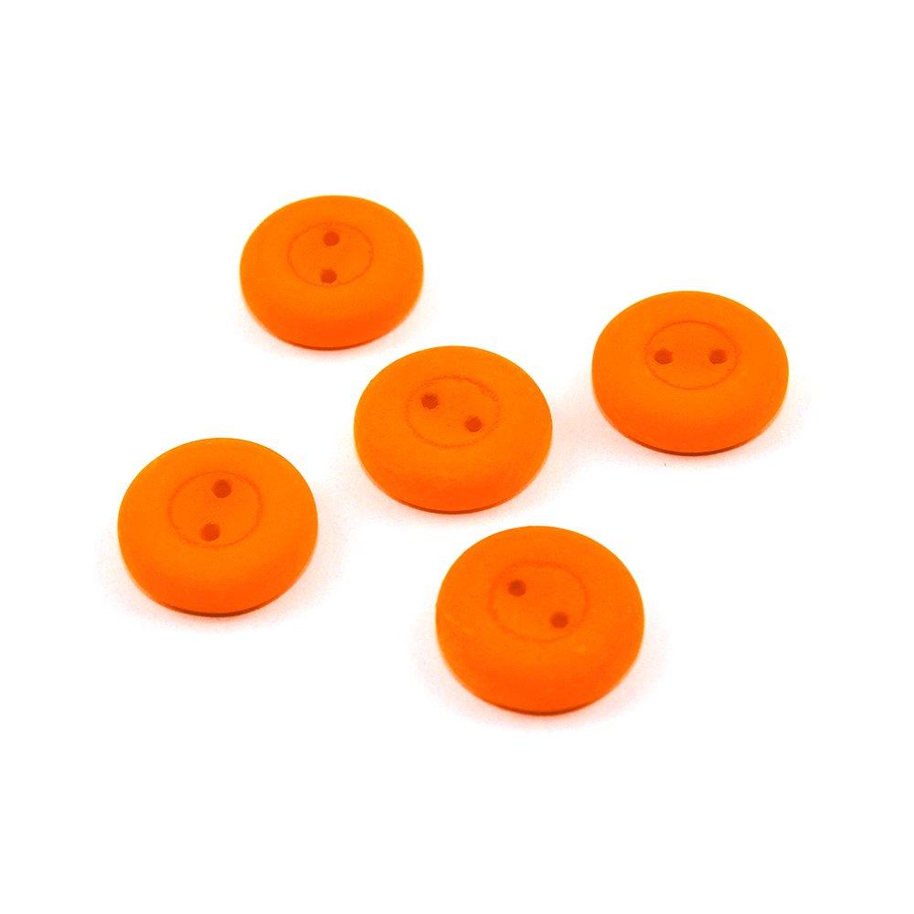 Knoflík Estrela NEON - oranžový - ∅ 16 mm - 1 ks
