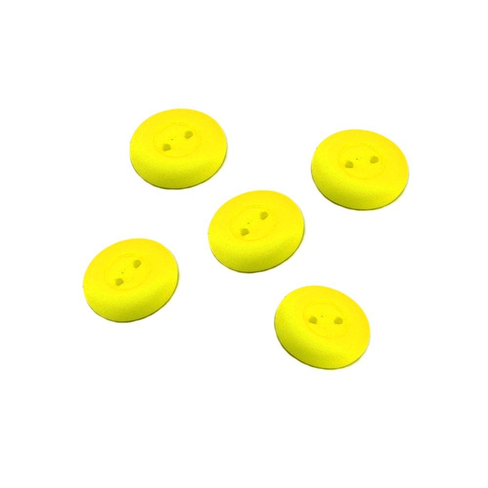 Knoflík Estrela NEON - žlutý - ∅ 16 mm - 1 ks