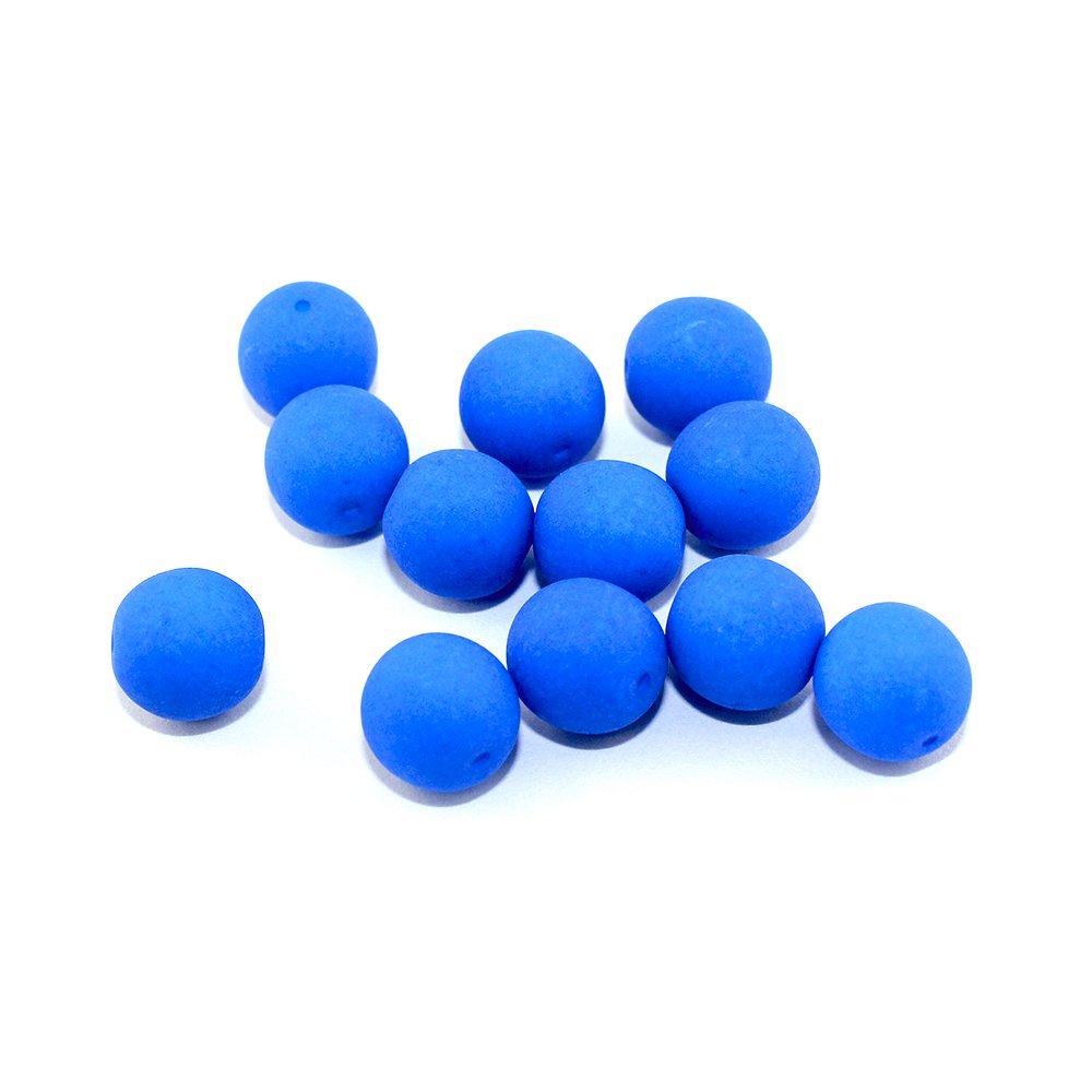 Korálky Estrela NEON - nebesky modré - ∅ 10 mm - 10 ks