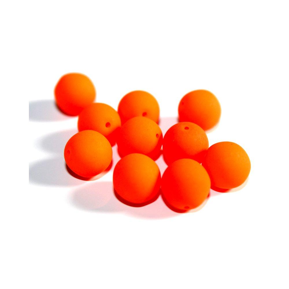 Korálky Estrela NEON - oranžové - ∅ 10 mm - 10 ks