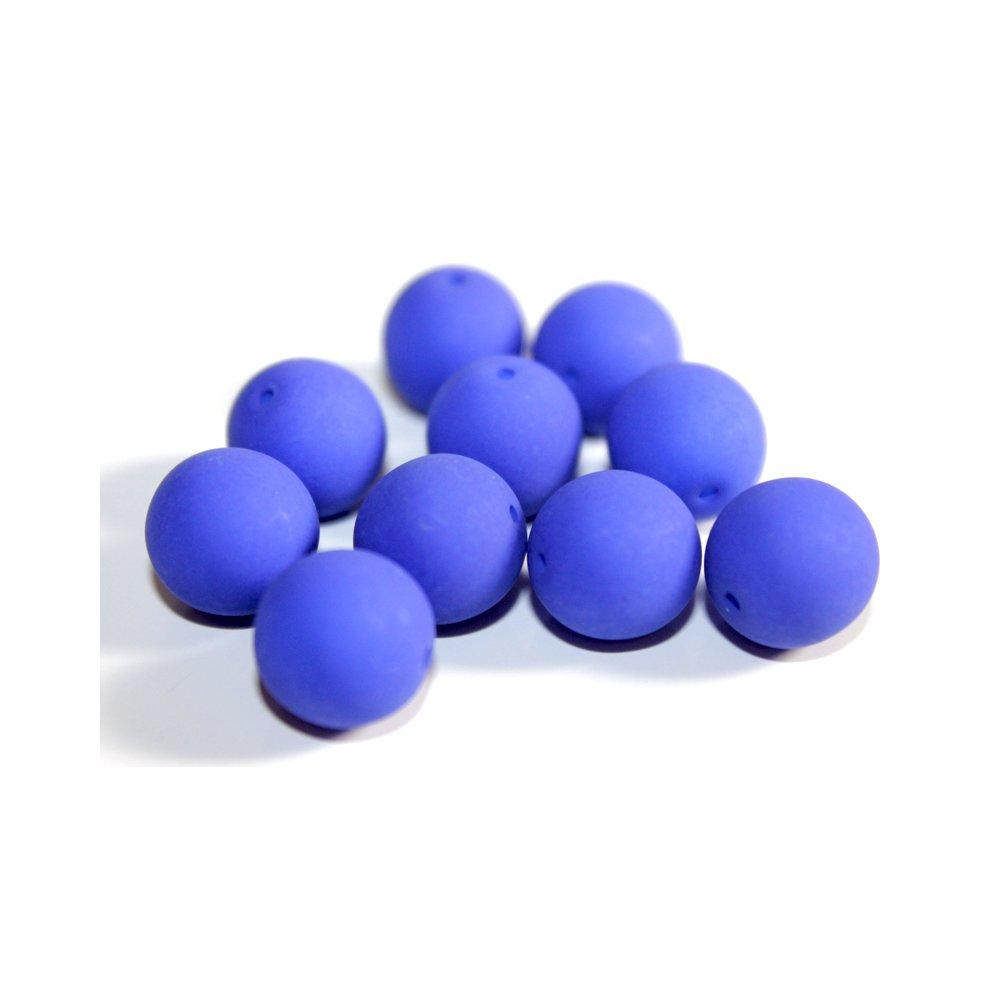 Korálky Estrela NEON - královsky modré - ∅ 4 mm - 10 ks