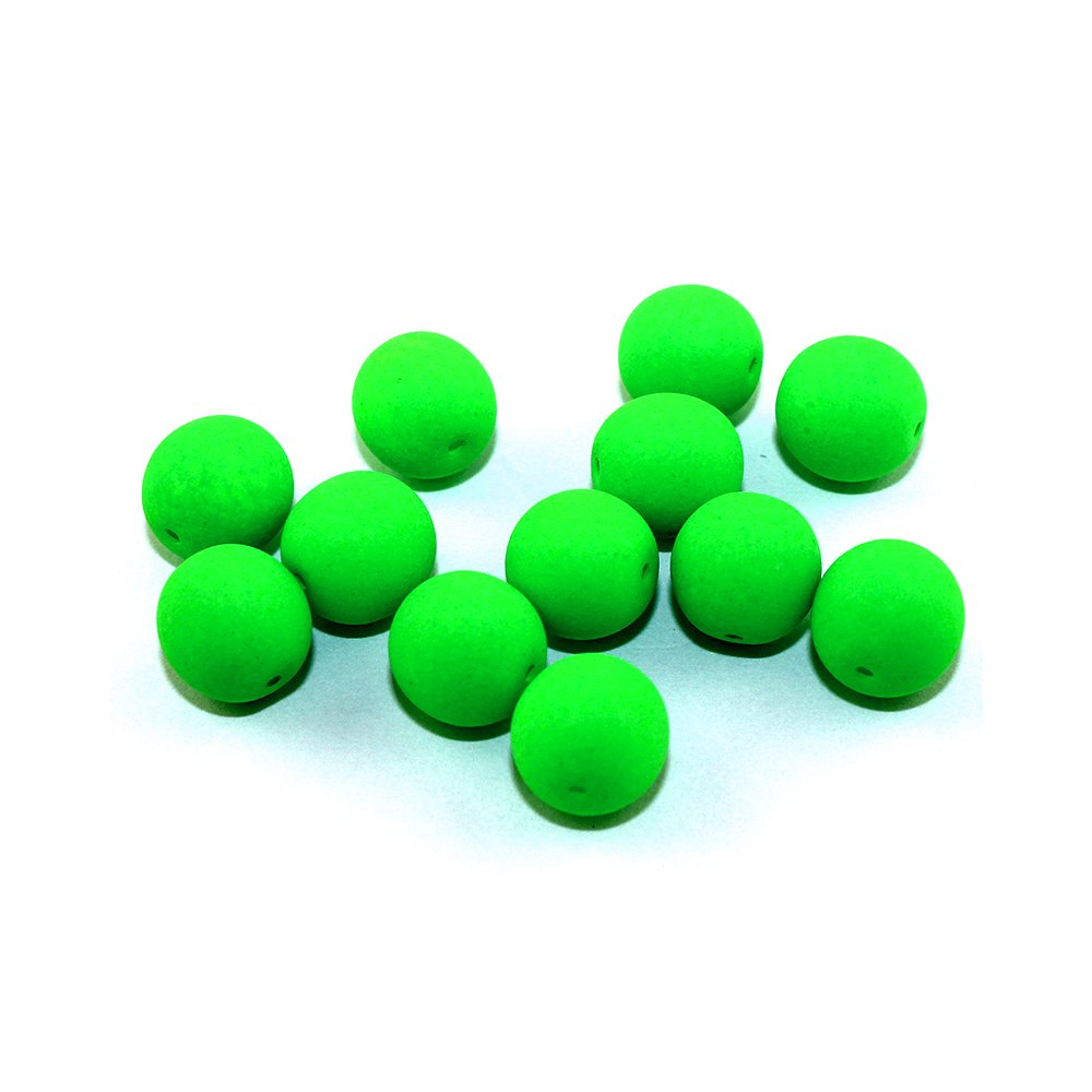 Korálky Estrela NEON - elektricky zelené - ∅ 10 mm - 10 ks
