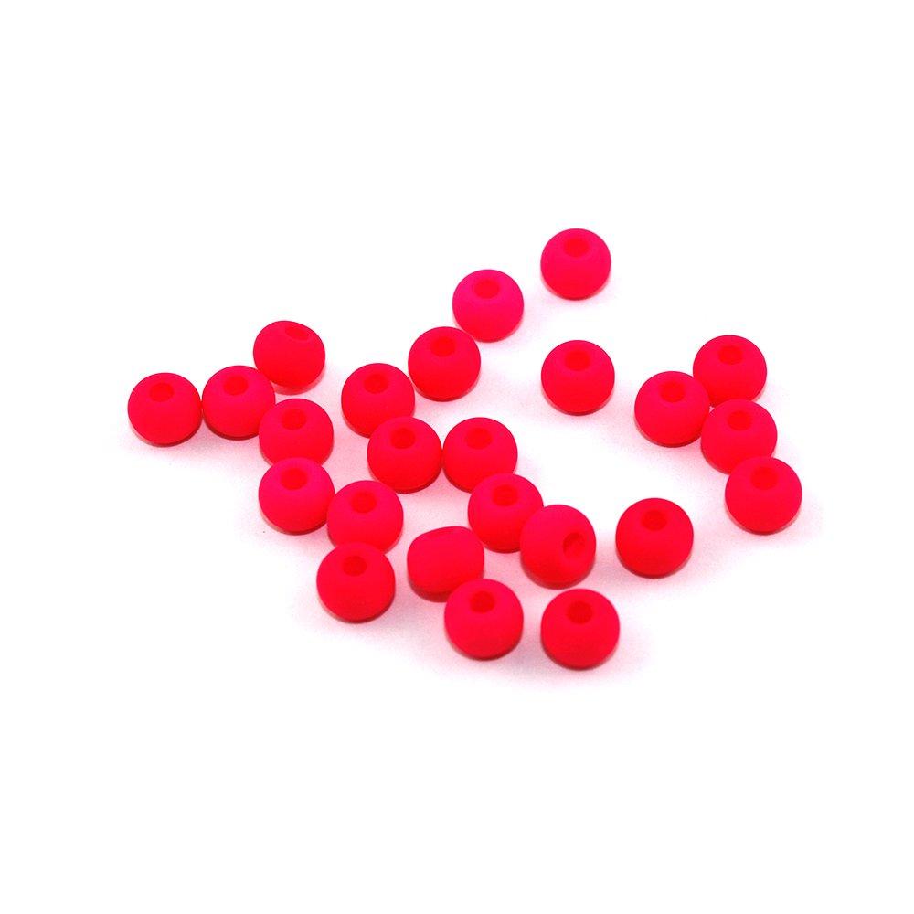 Korálky Estrela NEON - fluorescenčně růžové - ∅ 5,5 mm - 10 ks