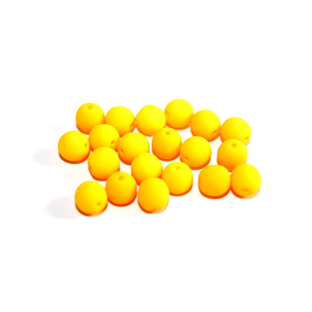 Korálky Estrela NEON - fluorescenčně oranžové - ∅ 6 mm - 10 ks