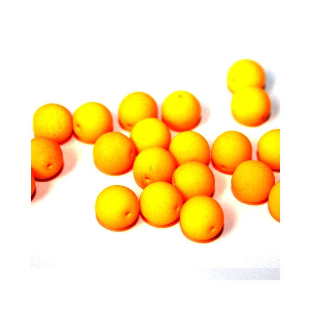 Korálky Estrela NEON - excentrické - pomerančové - ∅ 8 mm - 10 ks