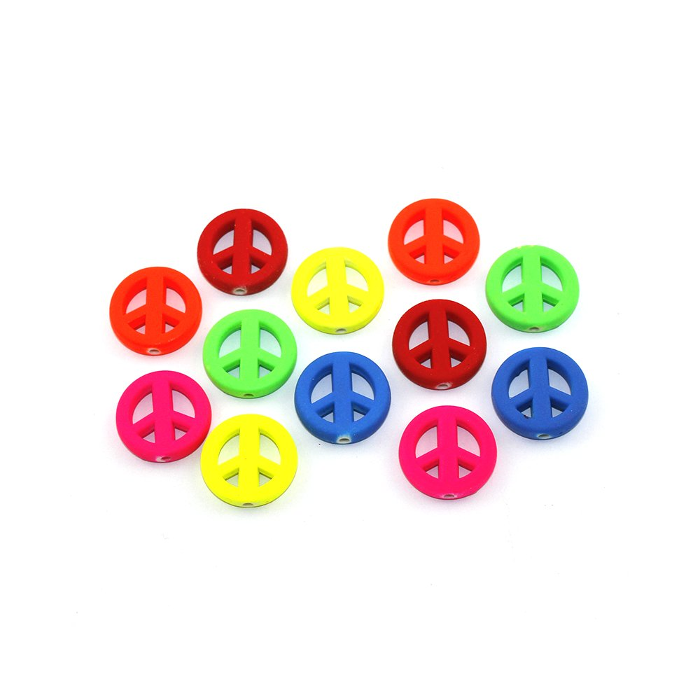 Peace - různé provedení - 20 x 5 mm - 1 ks