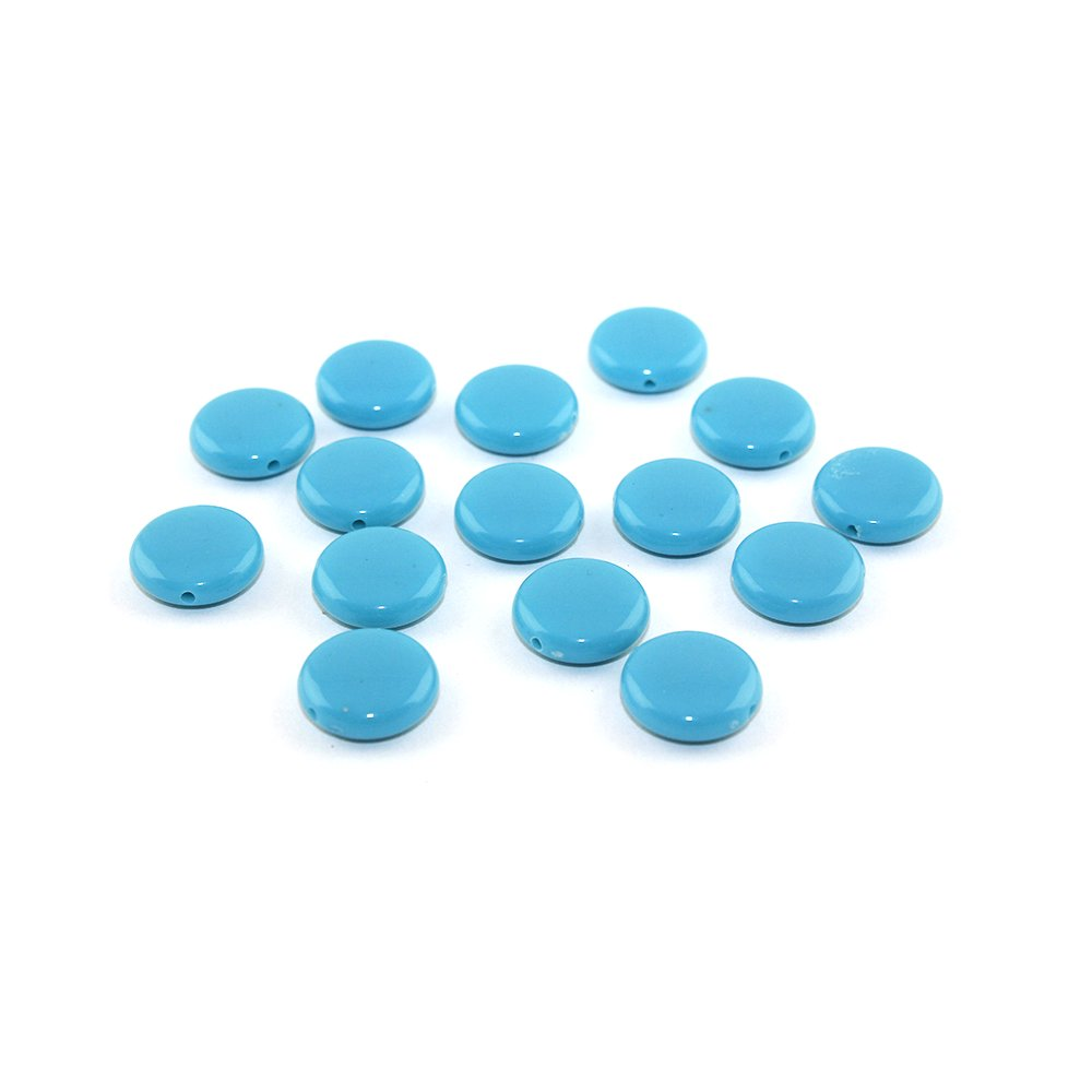 Akrylové lentilky - modré - typ A - 14 x 5 mm - 10 ks