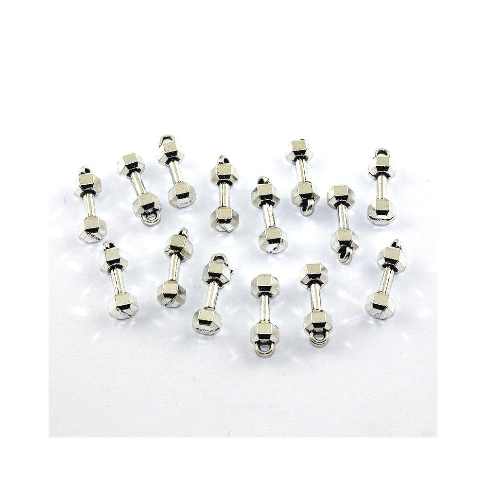 Činka - stříbrná - 21 x 6,5 x 6,5 mm - 1 ks