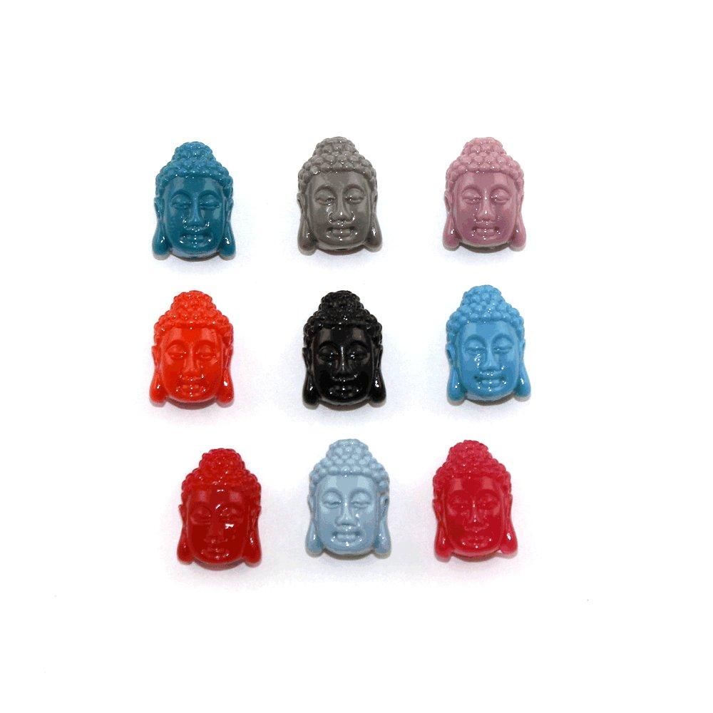 Buddha ze syntetického korálu - 15 x 10 x 7 mm - 1 ks