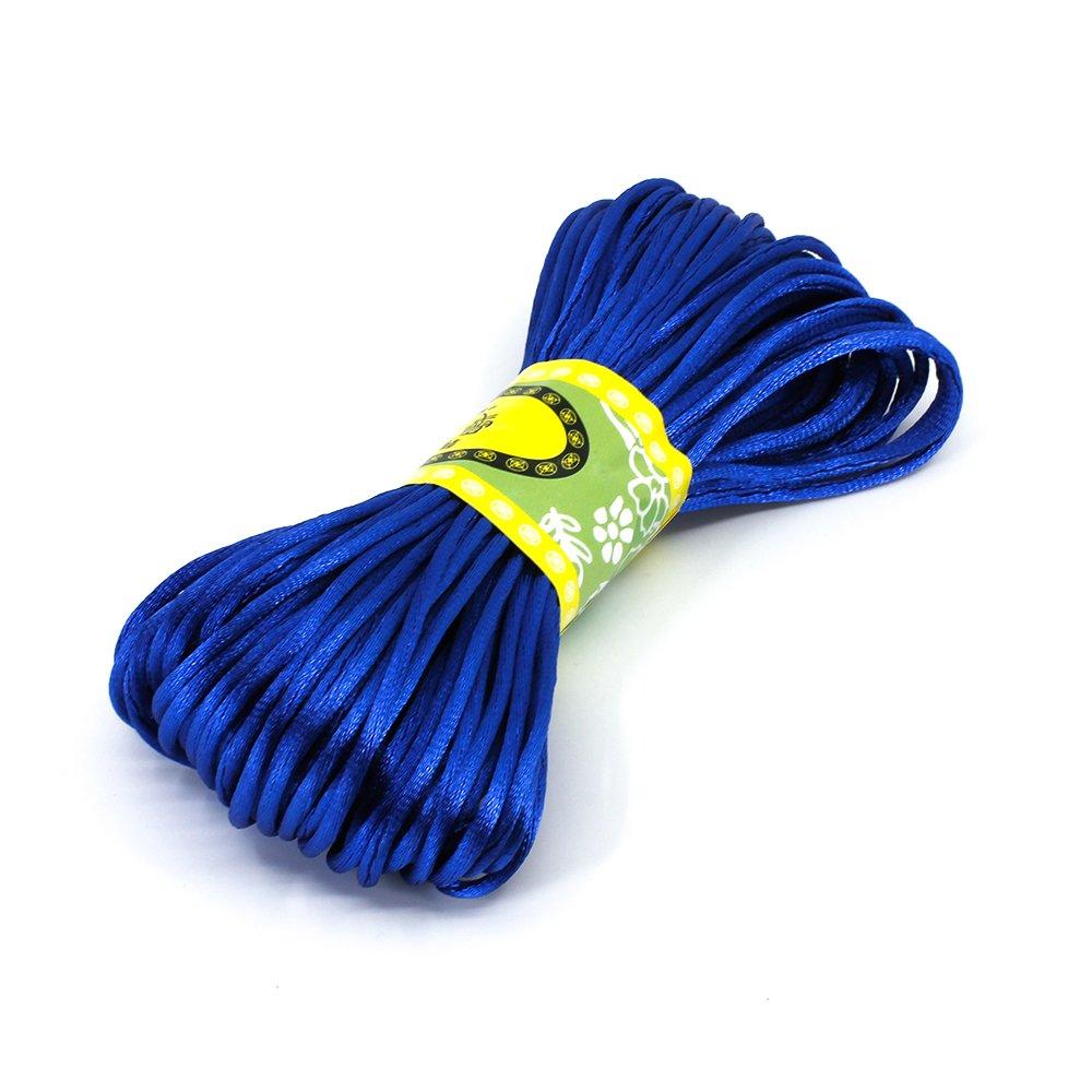 Saténová šňůra - královsky modrá - ∅ 2 mm - 20 m - 1 ks