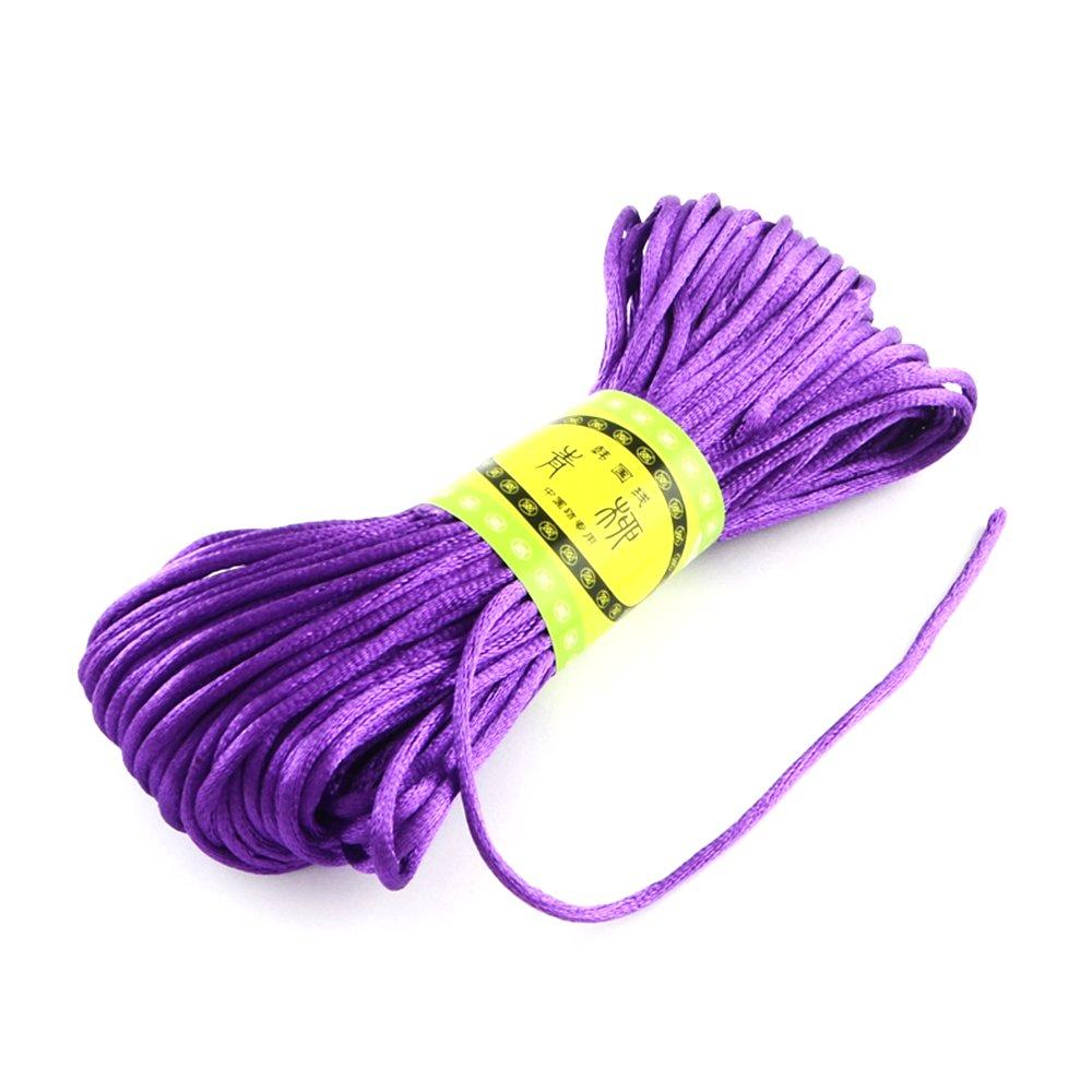 Saténová šňůra - fialová - ∅ 2 mm - 20 m - 1 ks