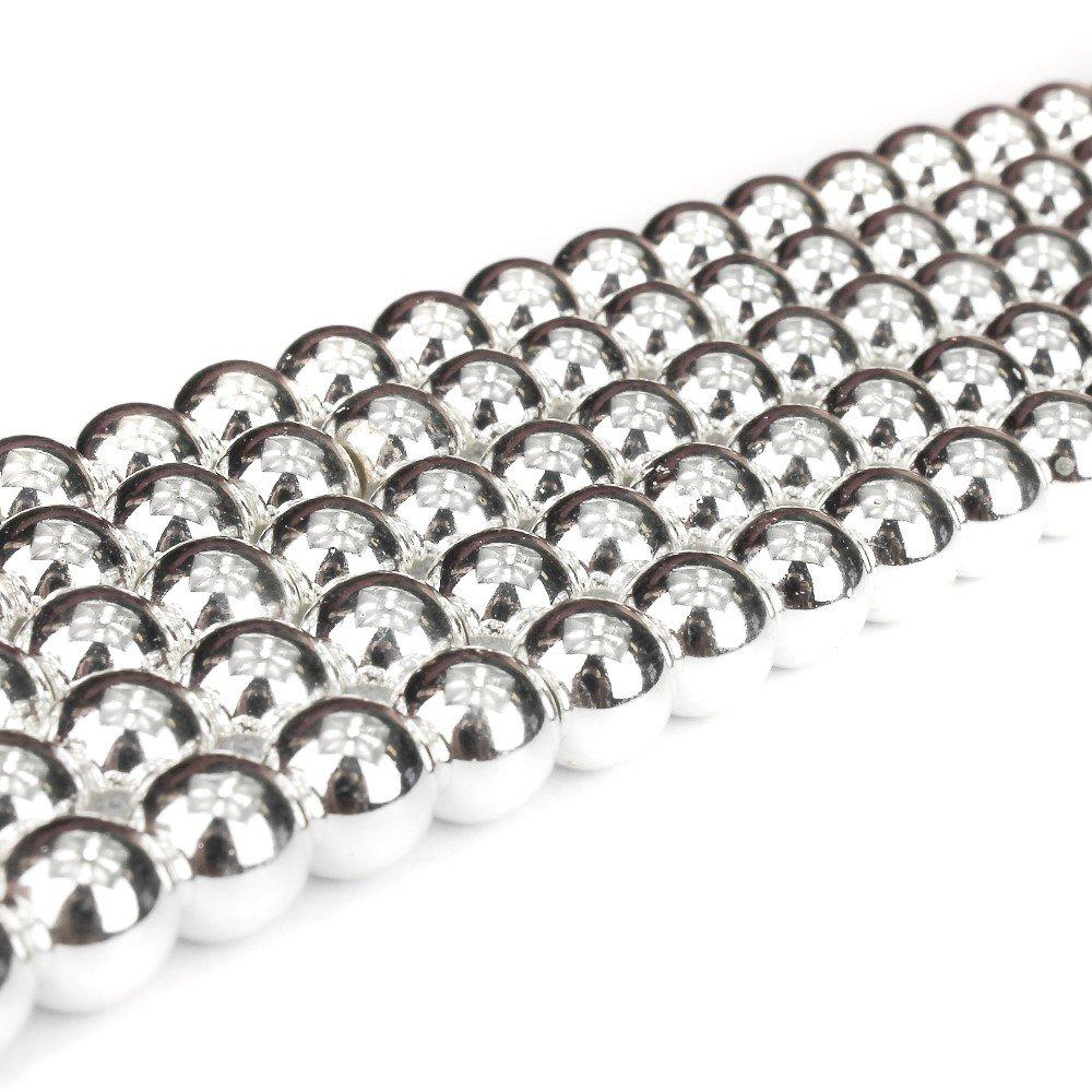 Syntetický hematit - stříbrný - ∅ 6 mm - 1 ks