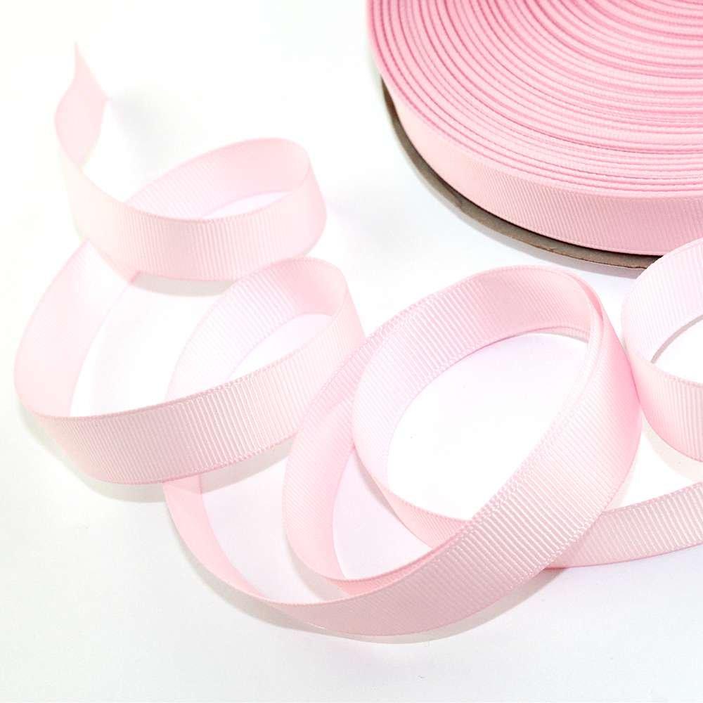 Grogrénová stuha - růžová - 16 mm - 1 m