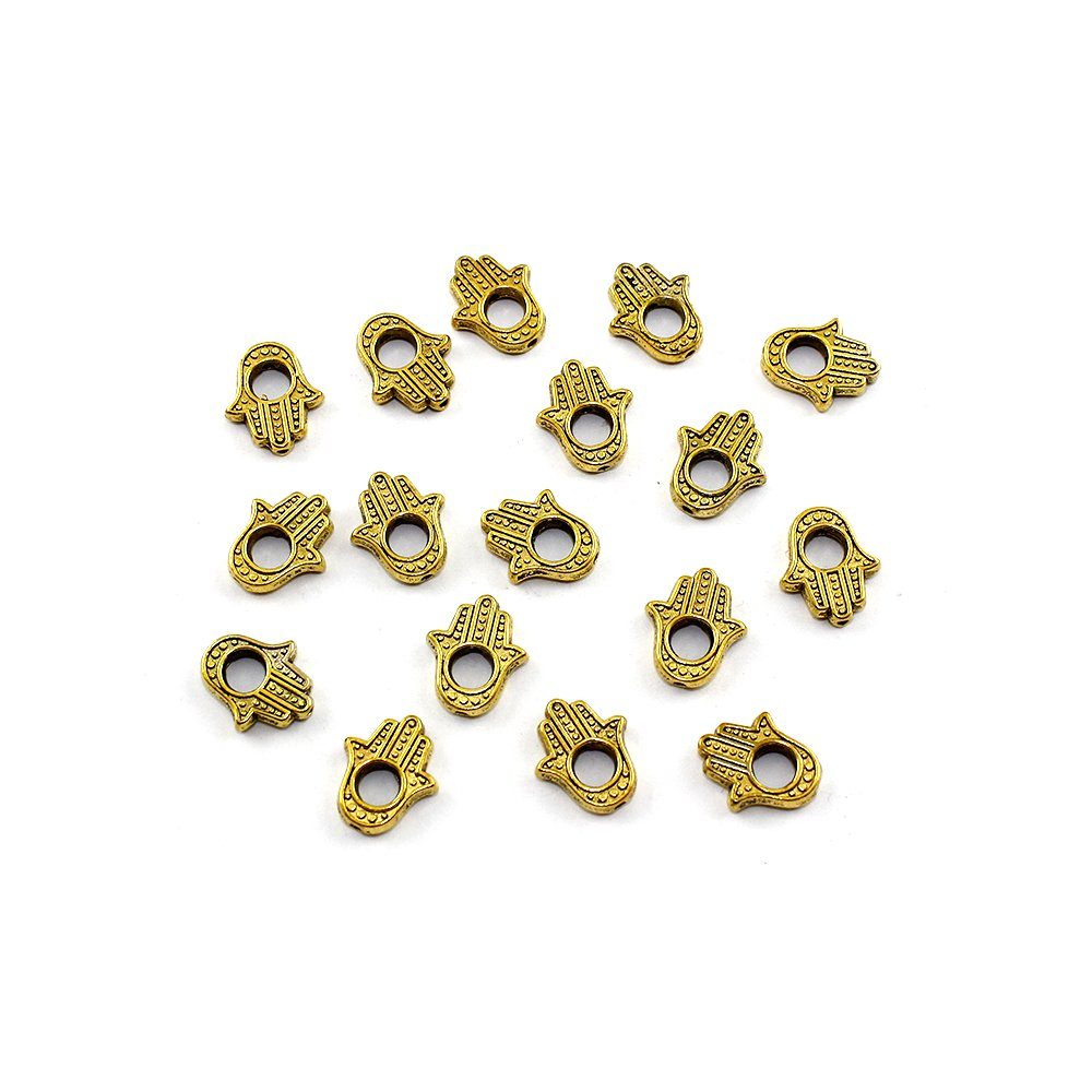 Hamsa - zlatá - 15 x 13 x 3 mm - 1 ks