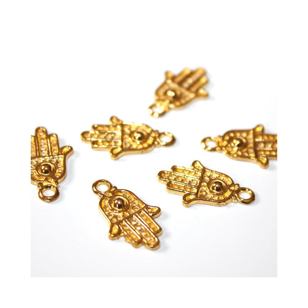 Hamsa - zlatá - 21 x 13 x 2 mm - 1 ks
