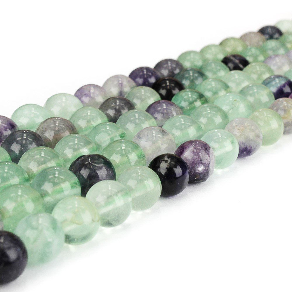 Přírodní duhový fluorit - ∅ 6 mm - 1 ks
