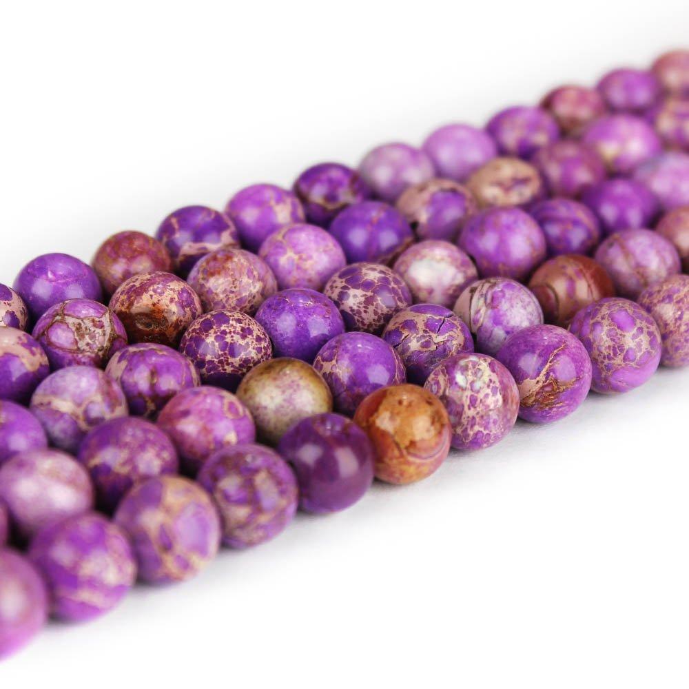 Přírodní regalit - fialový - ∅ 4 mm - 1 ks