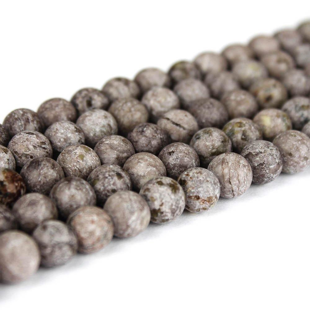Přírodní bláznivý achát - fialovošedý - matný - ∅ 8 mm - 1 ks