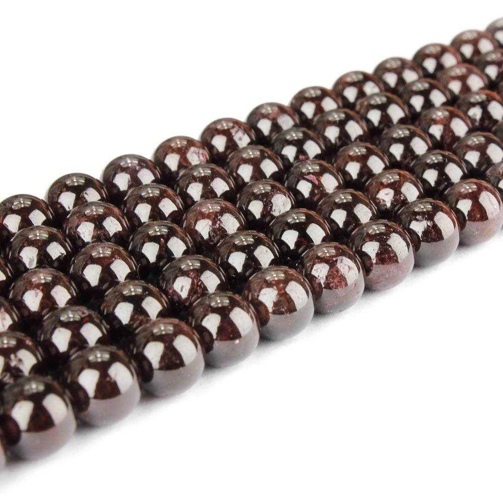 Přírodní granát - ∅ 8 mm - 1 ks