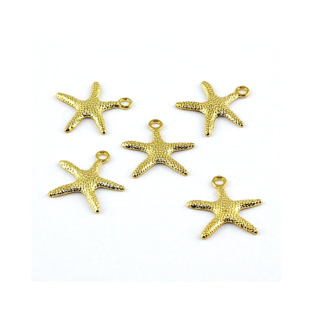 Hvězdice - zlatá - 19 x 19 x 2 mm - 1 ks