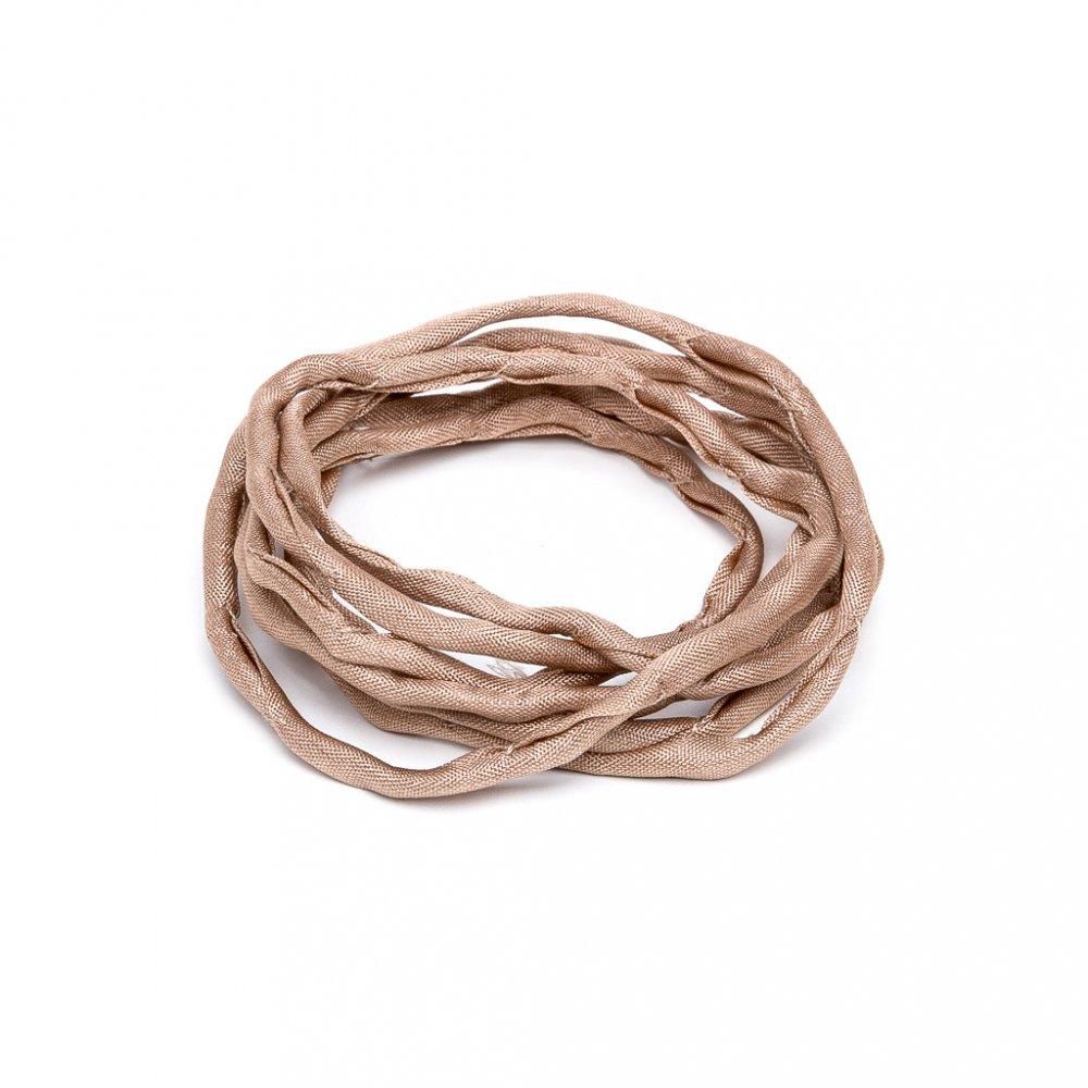 Habotai - hedvábné vlákno - béžové - ∅ 3 mm - 1 m - 1 ks