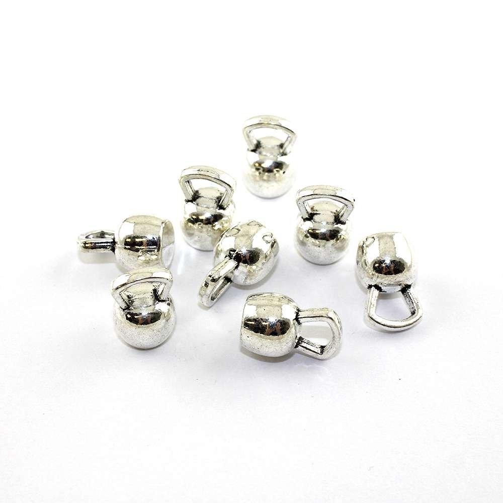 Kettlebell - 18 x 12 x 12 mm - stříbrný - 1 ks