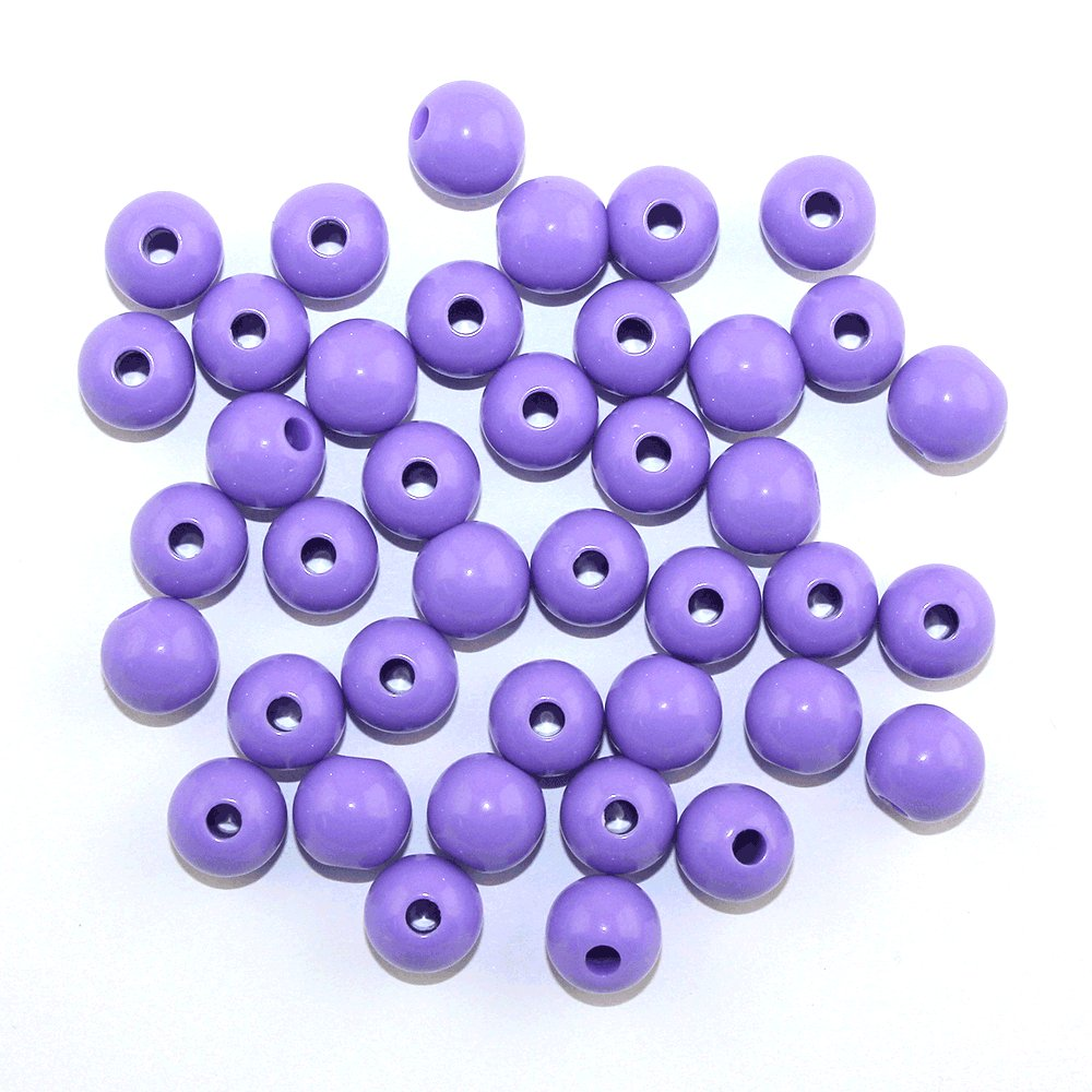 Akrylové korálky - fialové - ∅ 12 mm - 10 ks