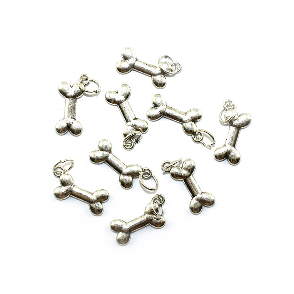 Přívěsek kost - stříbrná - 23 x 10 x 3 mm - 1 ks