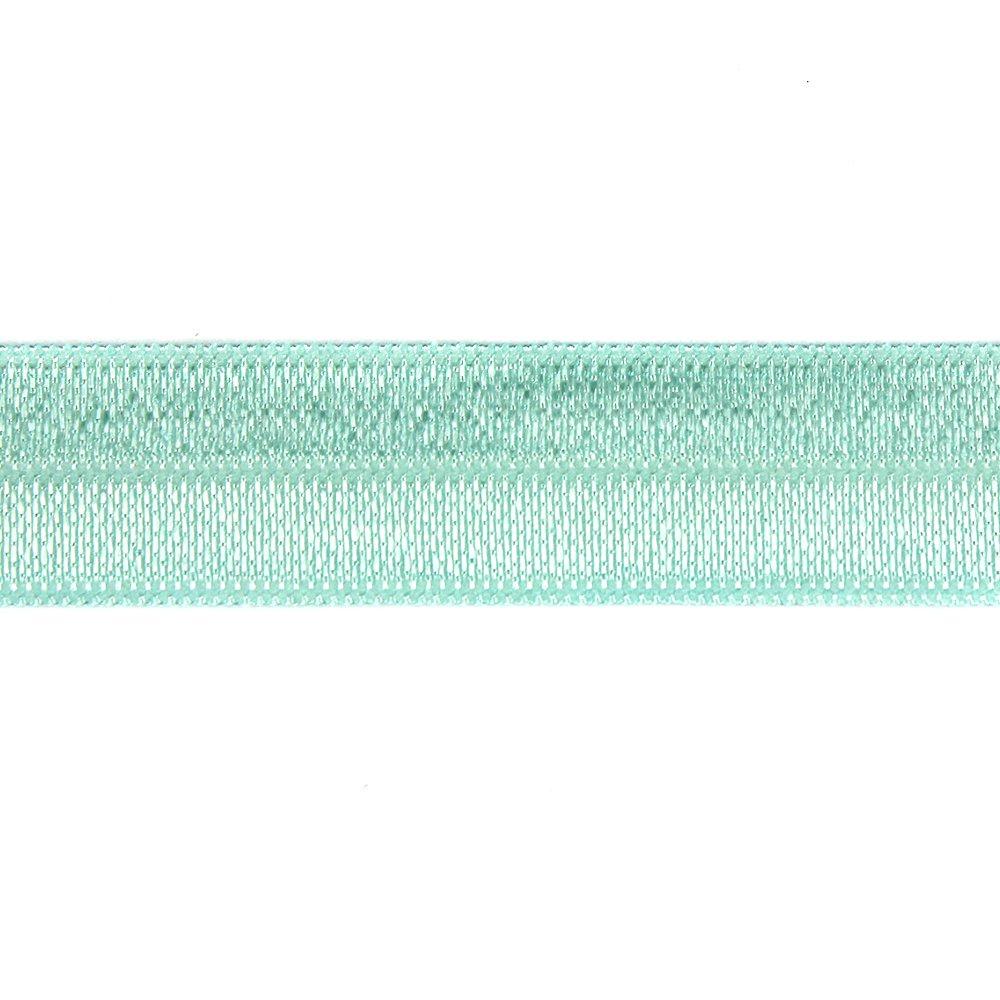 Elastická stuha - mentolová - 1,5 cm - 30 cm - 1 ks
