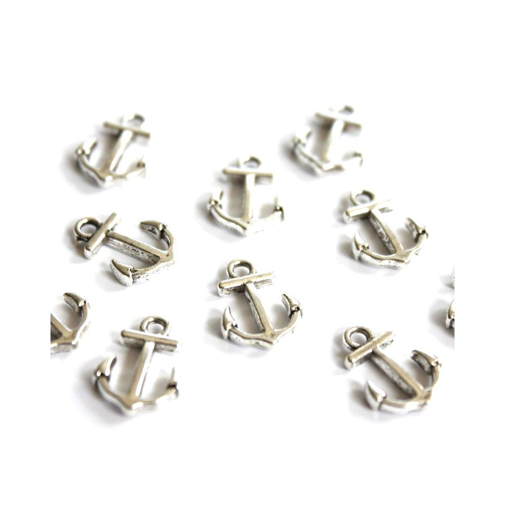 Kotvička - stříbrná - 15 x 11 x 3 mm - 1 ks