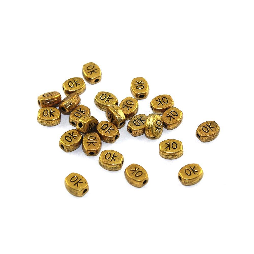 Kovový korálek OK - zlatý - 6 x 5 x 3 mm - 1 ks