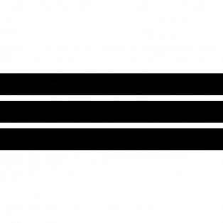 Elastická stuha - černá - 1,5 cm - 30 cm - 1 ks