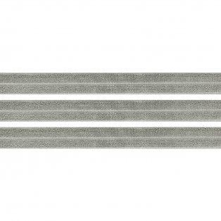 Elastická stuha - šedá - 1,5 cm - 30 cm - 1 ks
