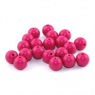 Akrylové korálky - tmavě růžové - ∅ 8 mm - 10 ks