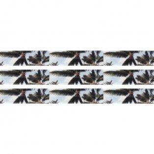Elastická stuha - bílá - palma - 1,5 cm - 30 cm - 1 ks