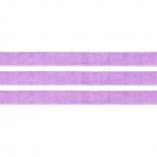 Elastická semišová stuha - šeříková - 1 cm - 30 cm - 1 ks