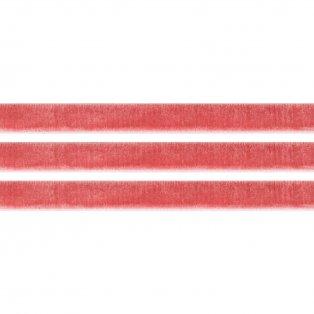 Elastická semišová stuha - starorůžová - 1 cm - 30 cm - 1 ks