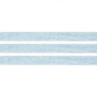 Elastická semišová stuha - pomněnková - 1 cm - 30 cm - 1 ks